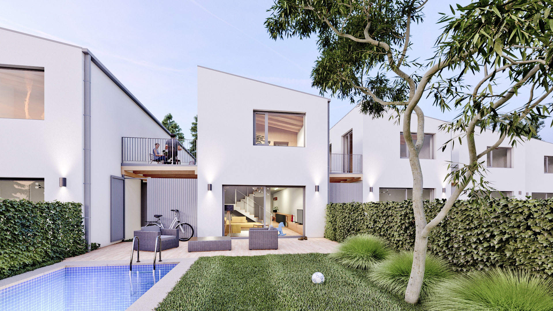 Kostaka stav development - projekt sedm domů