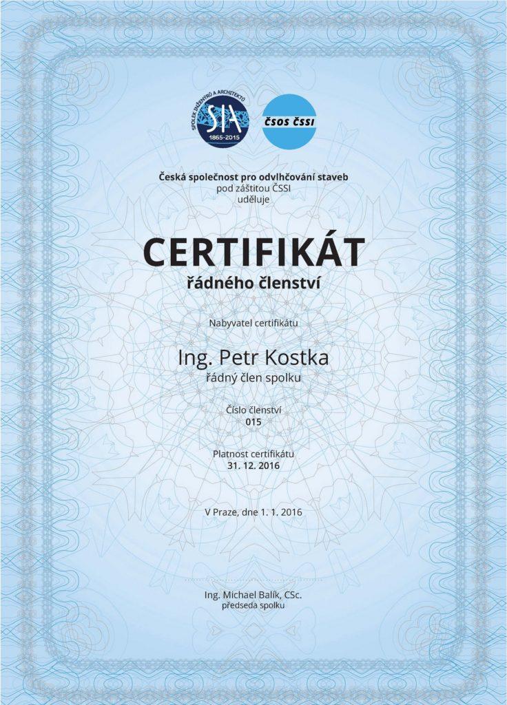 kostkastav certifikat odvlhcovani staveb